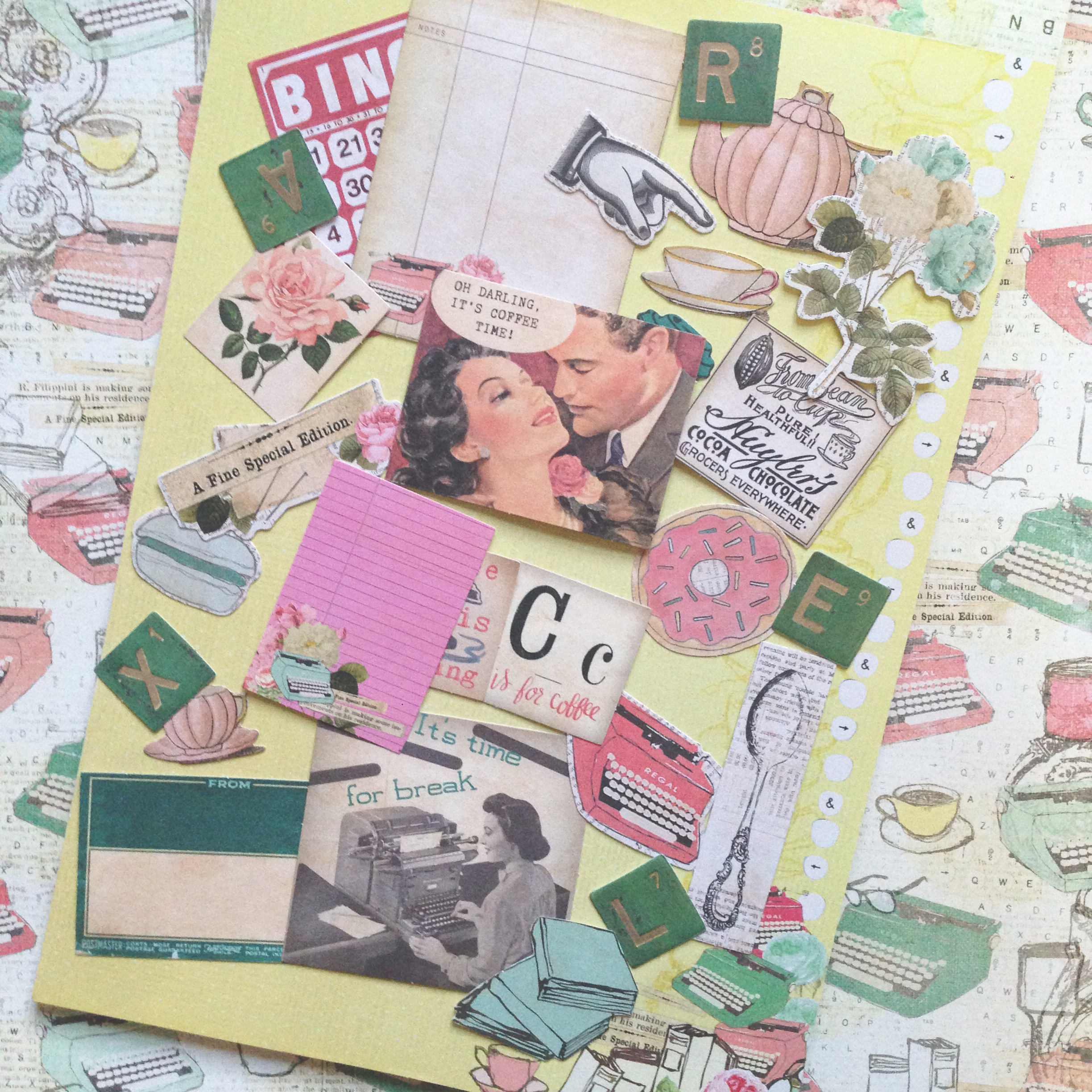 Scrapbook paper collections - Prima Coffee Break Collection