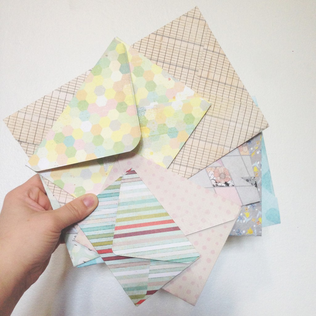 making envelopes paper trail diary