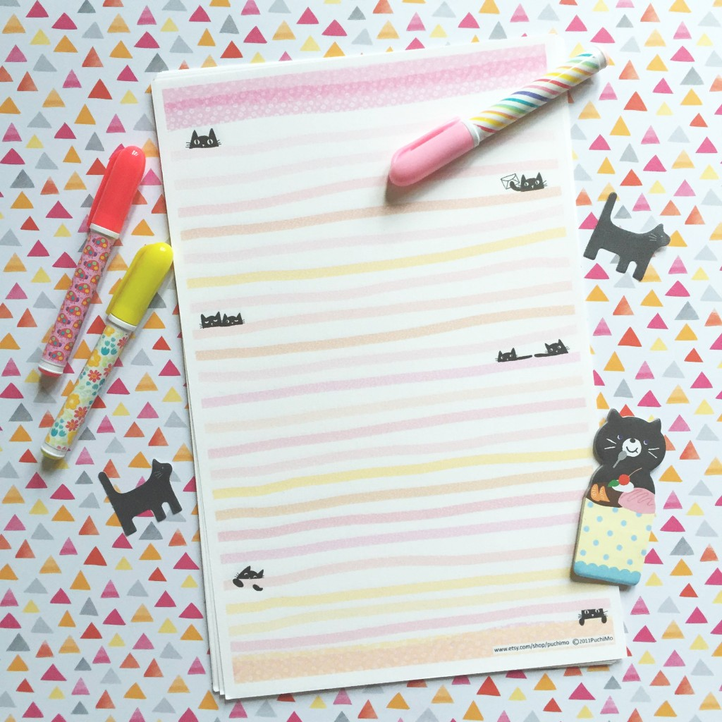 puchimo stationery on paper trail diary