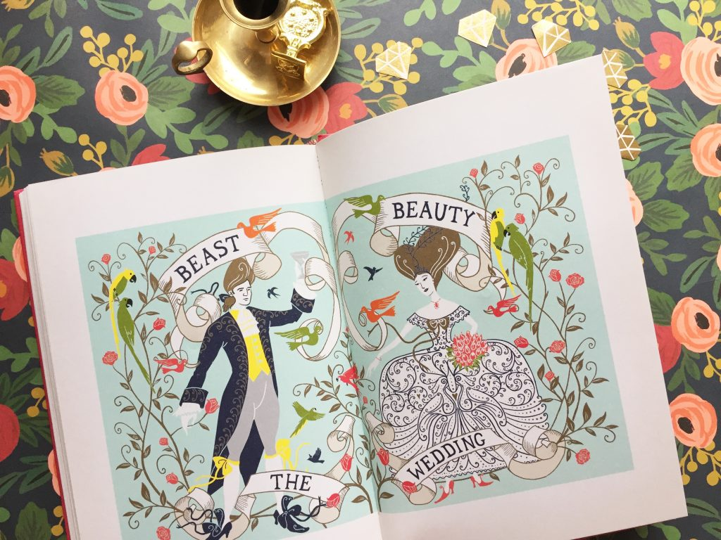 beauty and the beast by minalima via paper trail diary