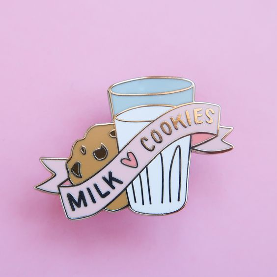 milk and cookies pin