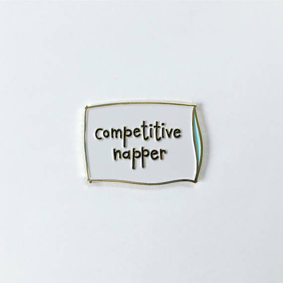 competitive napper pin