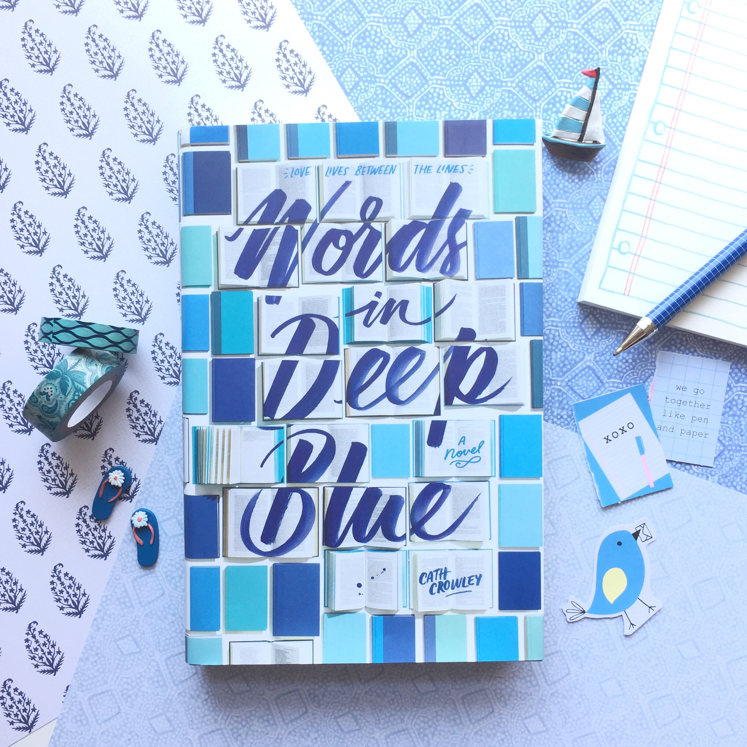 words in deep blue via paper trail diary
