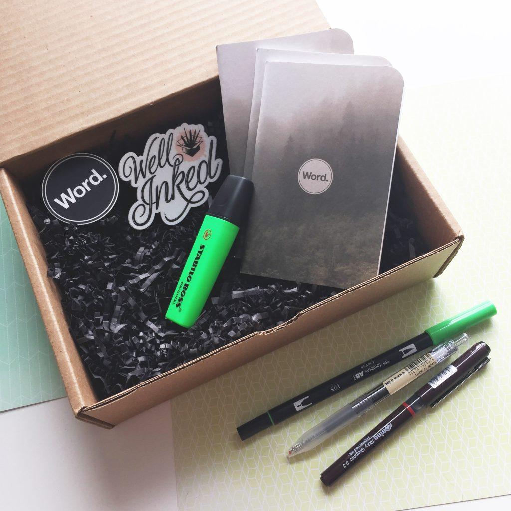 well inked box via paper trail diary