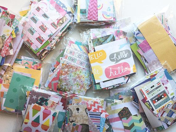 paper trail diary scrap paper packs