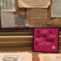 to get a letter you must send a letter, at toronto's first post office