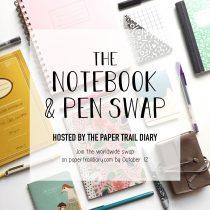 notebook and pen swap 2018