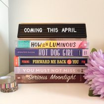 stack of books mentioned in blog post for being published in april 2019